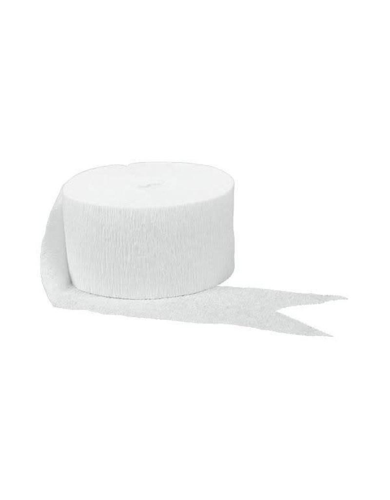 81' Crepe Streamer: White