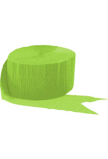 81' Crepe Streamer: Kiwi Green