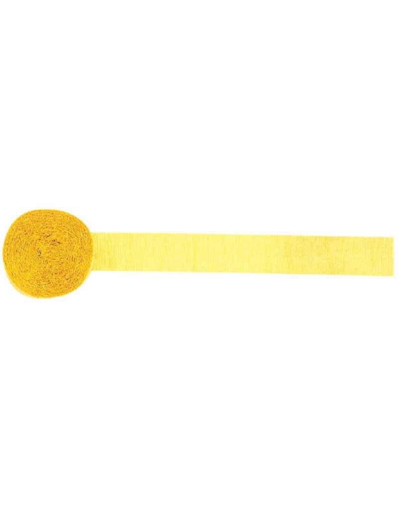 81' Crepe Streamer: Yellow