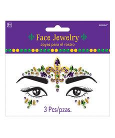 Amscan Mardi Gras Face Jewels