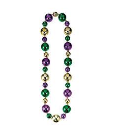 "46"" Large Mardi Gras Bead Necklace"