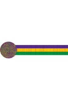 30' Mardi Gras Crepe Streamer