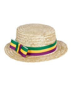 Mardi Gras Skimmer Hat