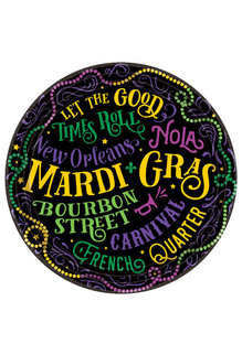 "9"" Plates: Mardi Gras (60pk.)"