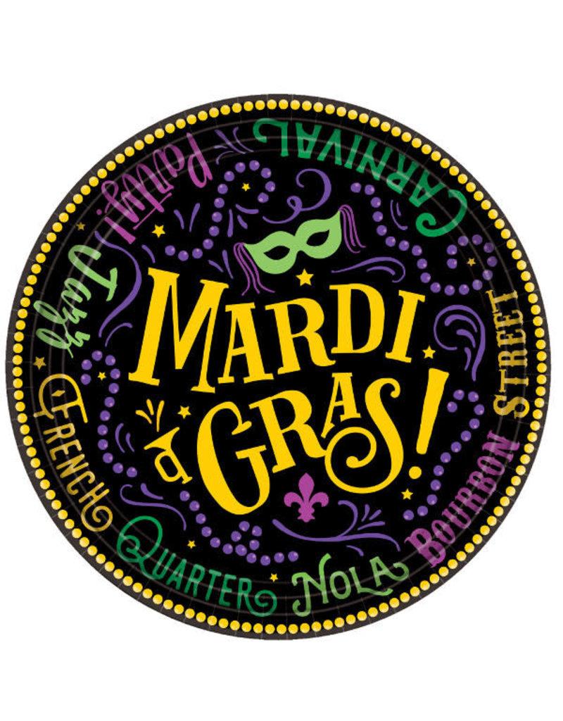 "7"" Plates: Mardi Gras (60pk.)"