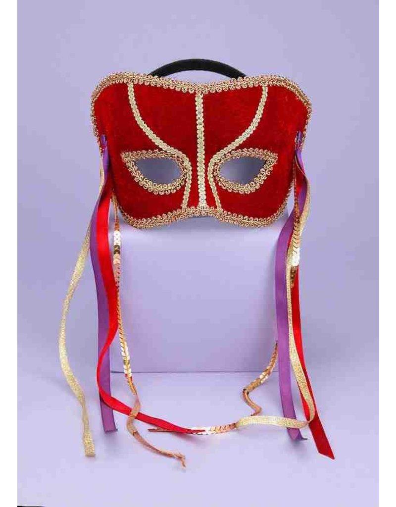 Carnival Half Mask w/ Ribbons
