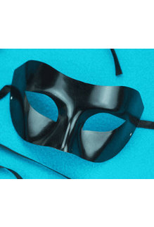 Allure Masquerade Eye Mask: Black