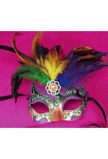 Boushey Eye Mask with Feathers