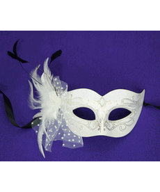 Brulee Eye Mask with Feathers