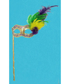 Disguise Mardi Gras Mask with Handle