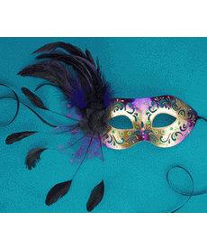 Xenia Feather Eye Masquerade Mask