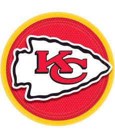 "NFL 9"" Round Plates: Kansas City Chiefs (8pk.)"