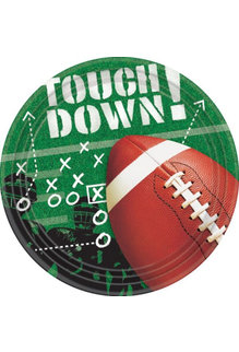 """Amscan 9"""" Lunch Plates: Football Frenzy (50ct.)"""