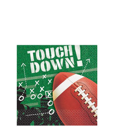 Amscan Beverage Napkins: Football Frenzy (100ct.)