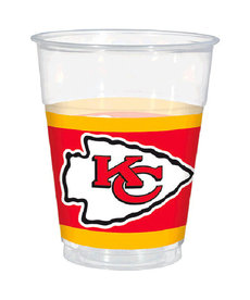 NFL 16oz. Plastic Cups: Kansas City Chiefs (25pk.)