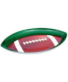 Amscan Football Shaped Plastic Platter