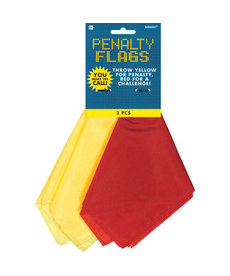 Amscan Football Penalty Flags: Red & Yellow