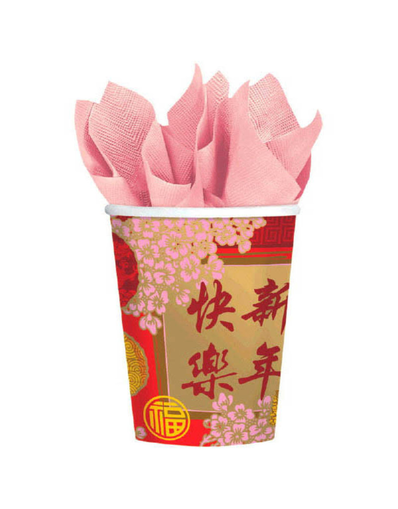 9oz. Cups: Chinese New Year - Blessing Cups (8ct.)