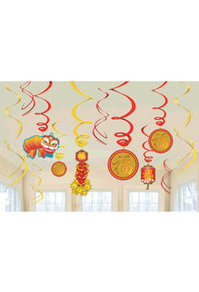 Chinese New Year: Value Pack Foil Swirl (12pk.)
