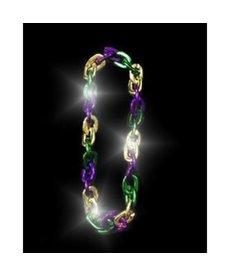 LED Flashing Mardi Gras Link Chain