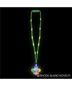 Mardi Gras Light-Up Lanyard: Fleur De Lis