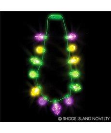 """25"""" Light Up Necklace: Fleur De Lis"""