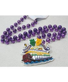 Specialty Beads: Steamboat on Purple Beads