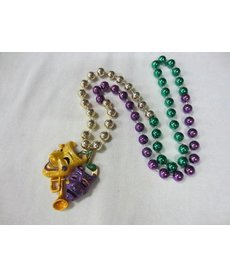 Specialty Beads: Comedy Tragedy w/ Glitter Trumpet