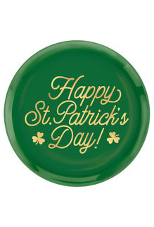 "14"" St. Patrick's Day Round Coupe Platter"