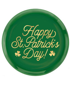 """14"""" St. Patrick's Day Round Coupe Platter"""