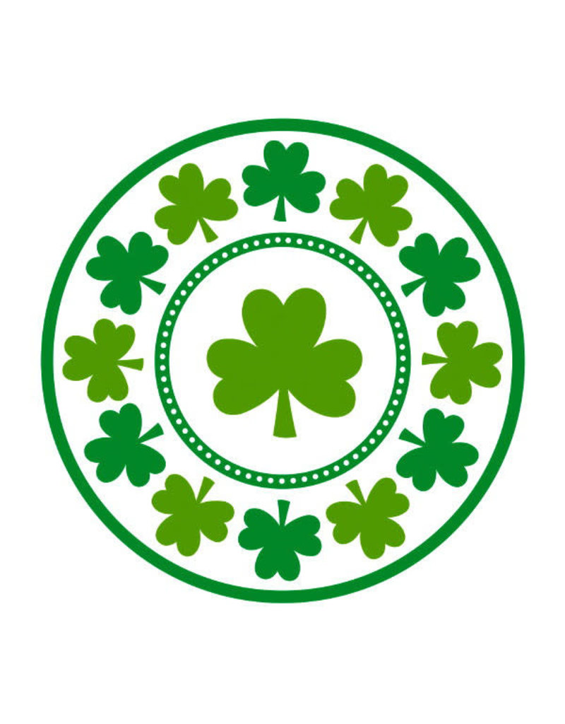 "9"" Plates: Lucky Shamrock (8ct.)"
