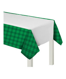 Plastic Table Cover: St. Patrick's Day - Plaid