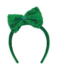 St. Patrick's Day Bow Headband