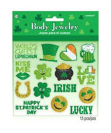 St. Patrick's Day Glitter Body Jewelry