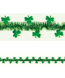 Tinsel with Foil Shamrocks Garland