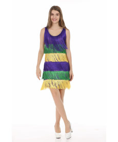 Mardi Gras Fringe Dress