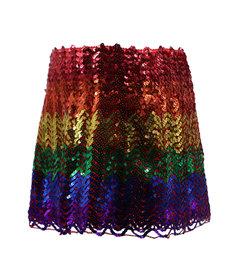 Sequin Rainbow Skirt