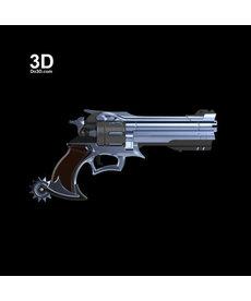 Foam Revolver Gun: Silver