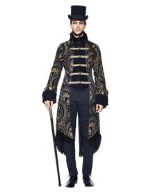 Men's Gothic Jacket with Gold Ornate Design