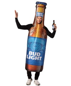 Adult Bud Light Beer Bottle Costume