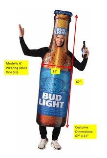 Adult Bud Light Beer Bottle Costume