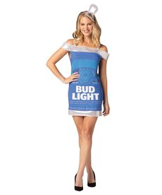 Adult Bud Light Beer Can Dress Costume