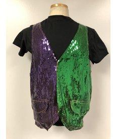 Mardi Gras Sequin Party Vest