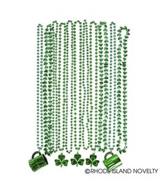St. Pat's Shamrock Assorted Beads (72.ct)