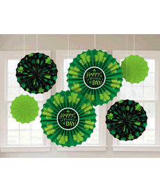 St. Patrick's Day Paper Fan Decorations (6pc.)