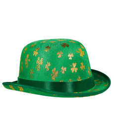 St. Patrick's Day Gold Shamrock Derby Hat
