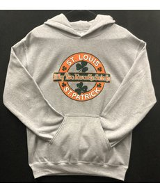 My Two Favorite Saints, St. Louis & St. Patrick (Grey) Hoodie