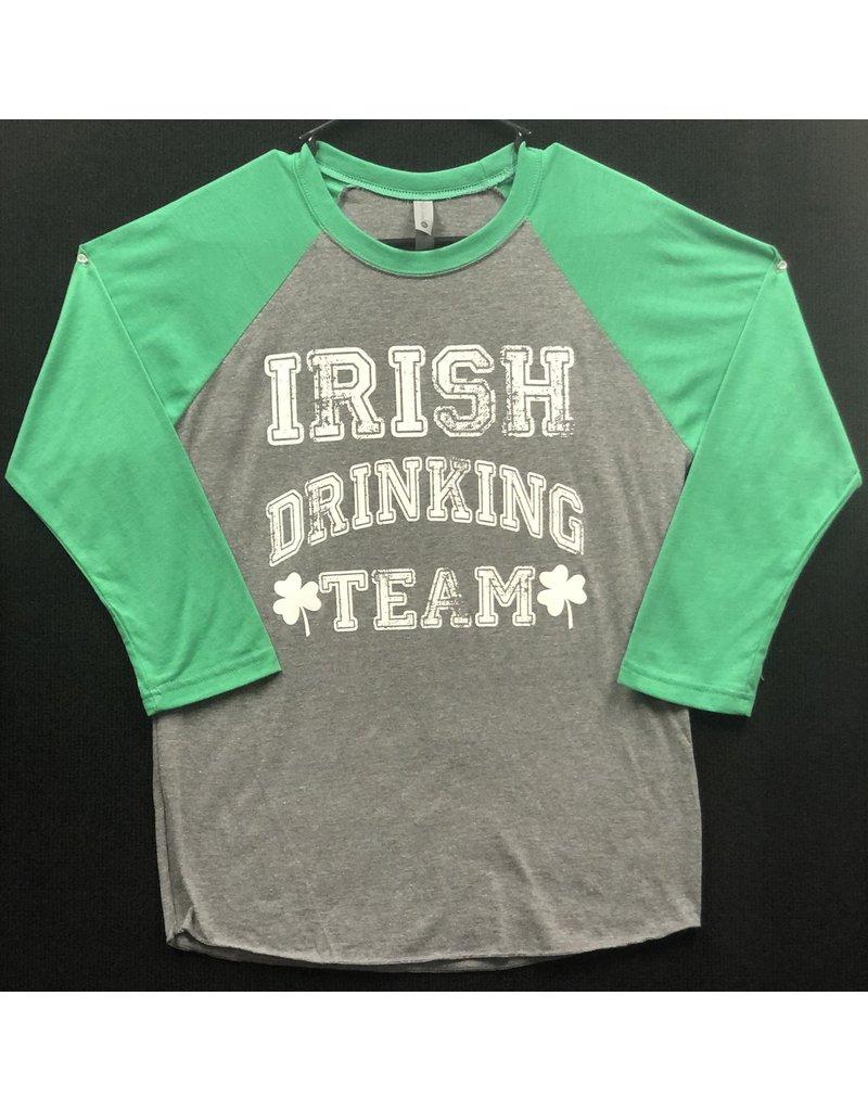 Unisex Baseball Tee: Irish Drinking Team