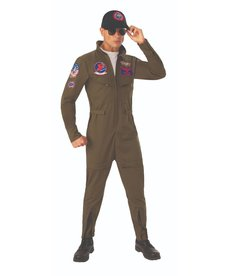 Rubies Costumes Men's Deluxe Top Gun Flight Suit