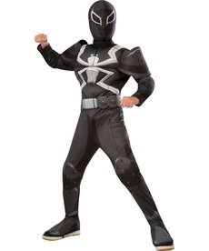 Rubies Costumes Boy's Deluxe Agent Venom Muscle Chested Costume